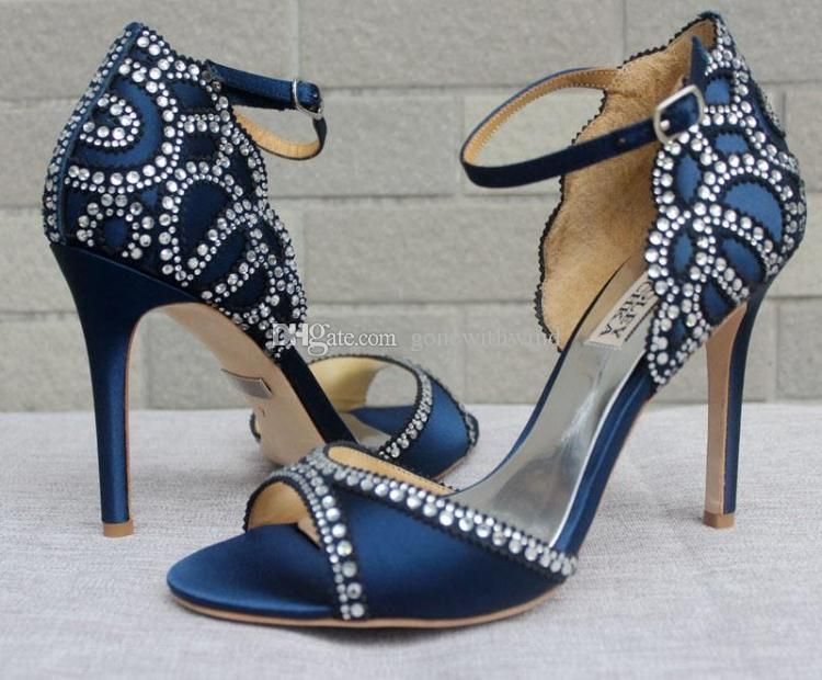 Blue Burgundy Wedding Shoes Bridal Heels Sandals For Evening Prom Party