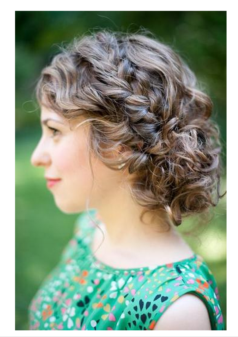 Casual or formal updo for curly, brunette | Medium curly ...