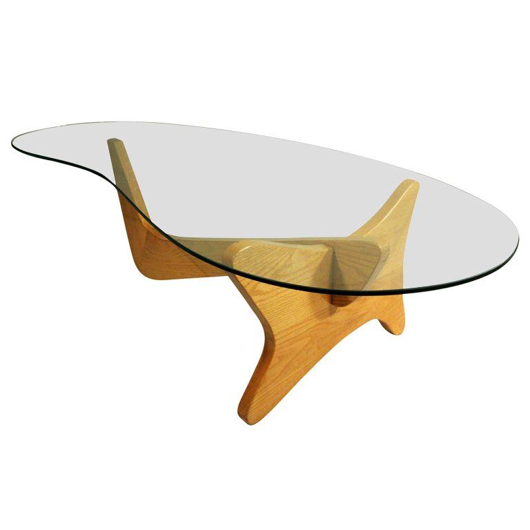 Mid Century Modern Noguchi Style Biomorphic Glass Coffee Table Coffee Glass And Mid Century