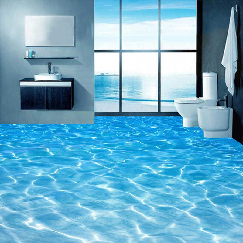 Custom 3d Floor Murals Wallpaper Sea Water Surface Ripple Photo Wallpaper Pvc Waterproof Bathroom Floor Sticker Vinyl Wall Paper Wall Paper Vinyl Wall Paperfloo In 2020 Floor Murals Floor Wallpaper 3d Floor Painting
