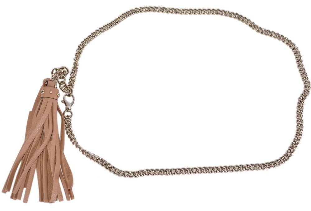 d8924764d15 New Gucci Women's $495 388992 Leather Tassel GG Charm Golden Chain Belt  #Gucci