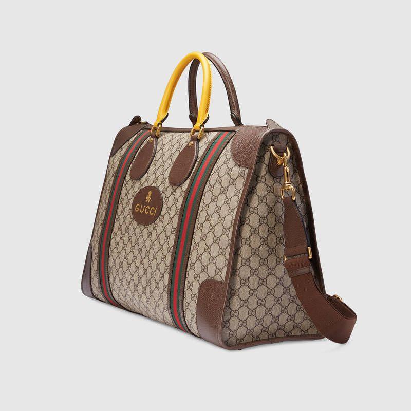 08af1542f Soft GG Supreme duffle bag with Web - Gucci Men's Duffle Bags  459291K5I9T8855