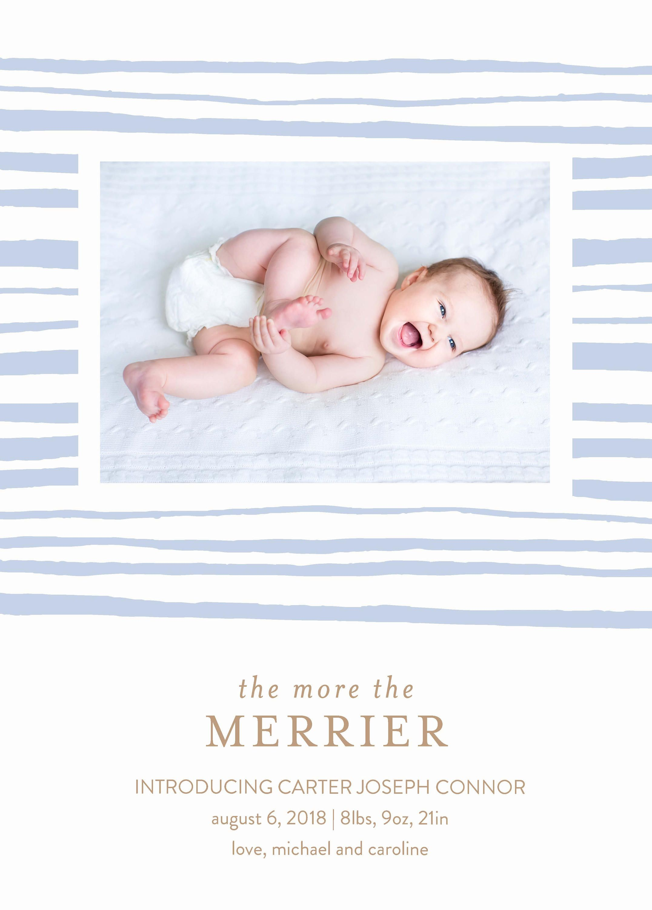 Holiday Newborn Birth Announcement Printable Template