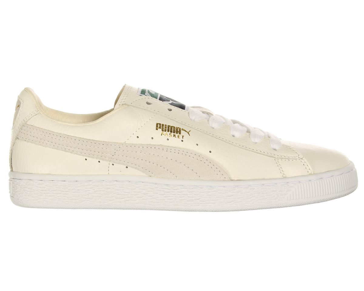 Puma Basket Classic White Leather Trainers