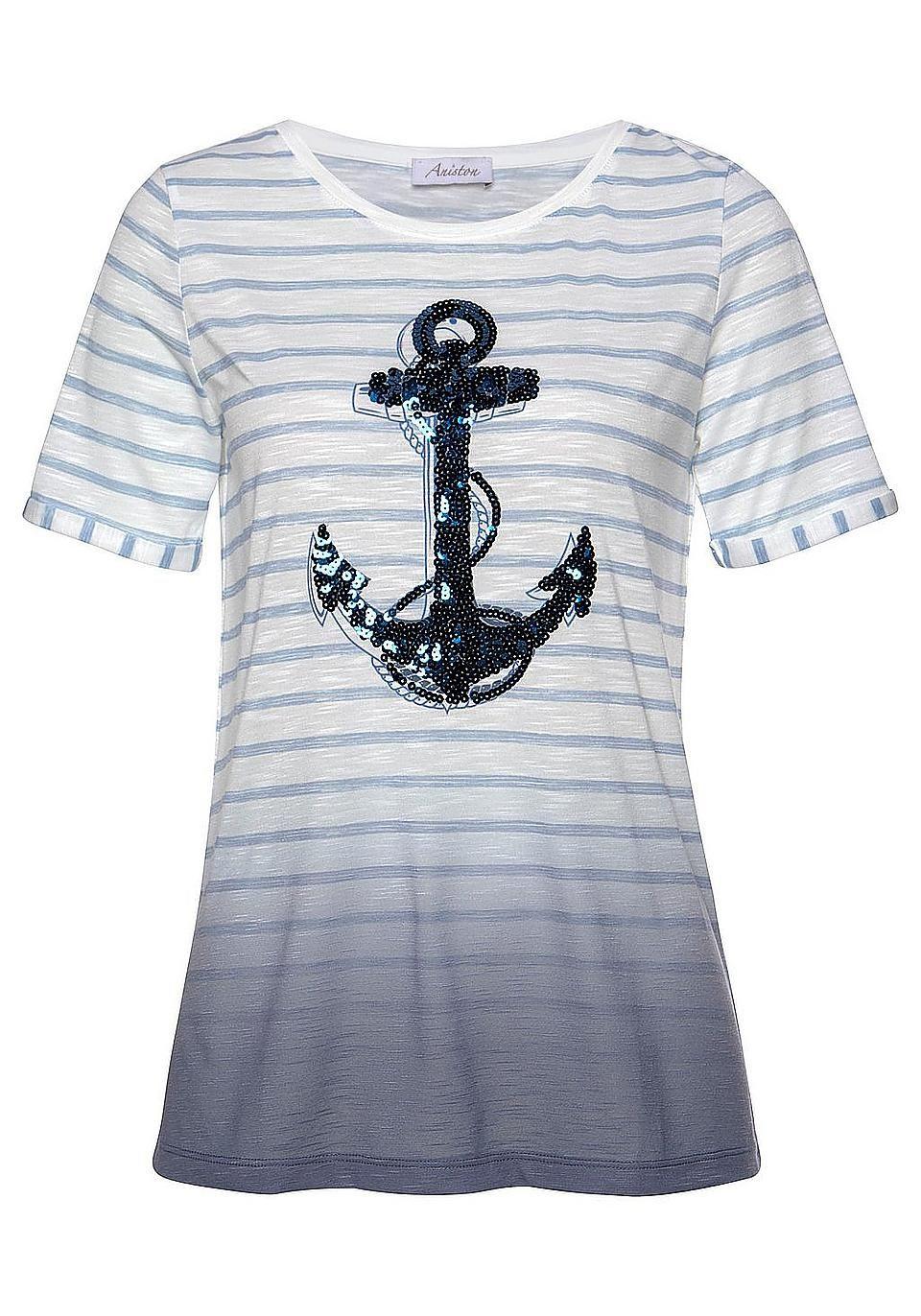 Aniston CASUAL T Shirt mit fixiertem Umschlag online kaufen