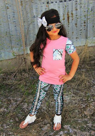 CORAL SEQUIN AZTEC BOUTIQUE SET