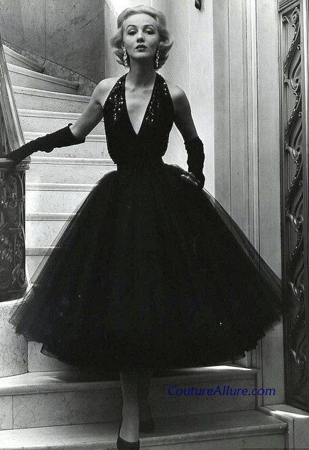 Givenchy worn by Suzy Parker - Orlon 1954 Vogue - 1950s Fashion ...