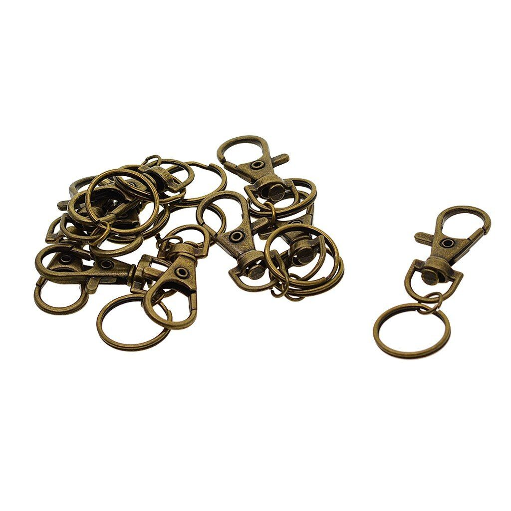 10pcs Metal Snap Hook Lobster Clasp Lanyard Pendant For Keyring Keychain Jewelry