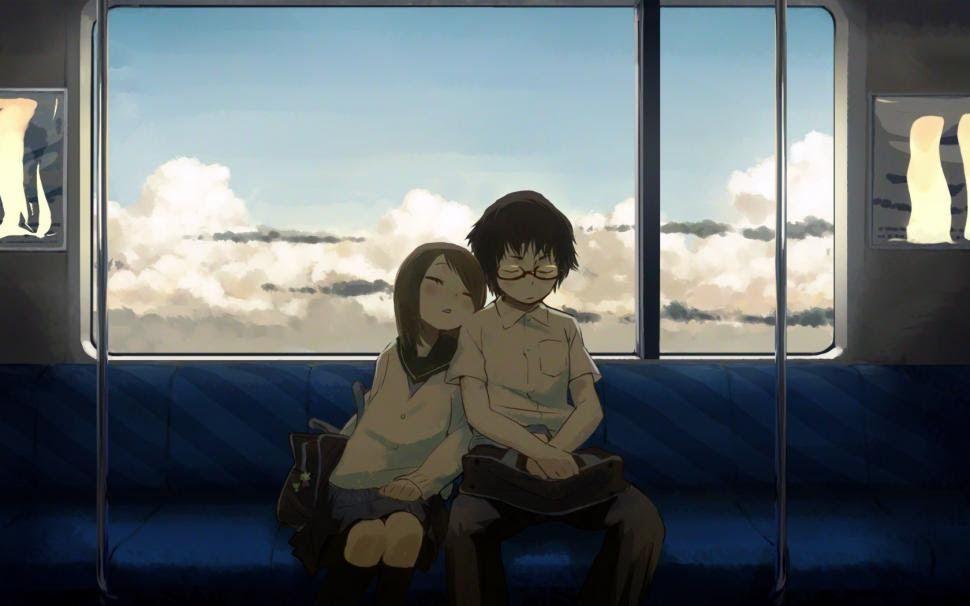 17 Anime Couple Sleeping Wallpaper Anime Sleep Couple Hd Wallpaper Japanese Train Inside Download Anime Couple Sleeping Gifs Tenor Download Wallpaper An