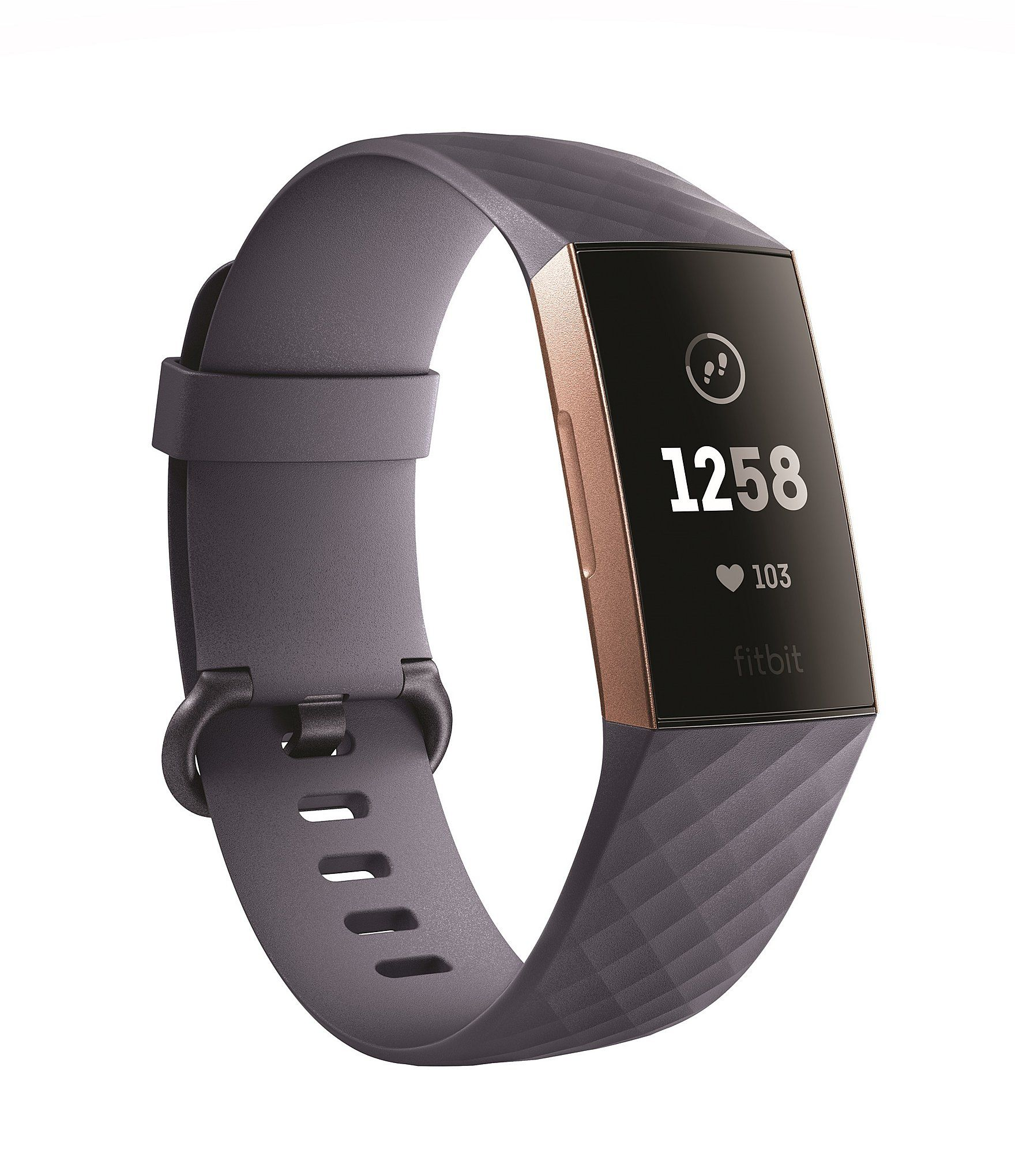 Understand your health and take action to improve with Fitbit Charge 3an advanced fitness tracker that uses 24/7 heart rate & personalized insights to reveal what's below the surface.What's Included:Fitbit Charge 3Classic wristbands (both small & large) Charging cableFeatures: Touchscreen dial, 24/7 heart rate, all day activity tracking, smartphone notifications, sleep tracking, female health t