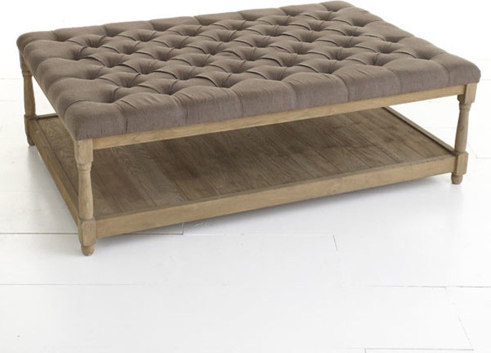 black leather tufted ottoman coffee