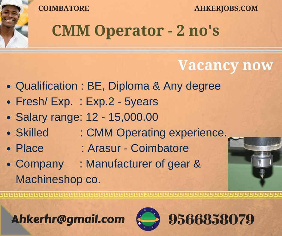 Vacancy Now  Boring Machine Operator Job  NoS Wanted