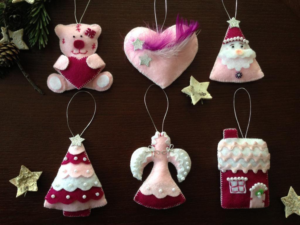 Ozdoby Swiateczne Z Filcu 4840249706 Oficjalne Archiwum Allegro Christmas Ornaments Ornaments Holiday Decor