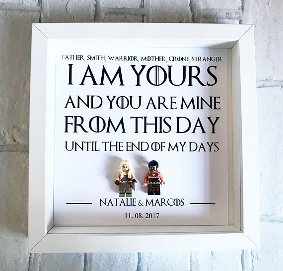 Game of Thrones Gift | Game of Thrones Frame | Wedding Gift | GOT ...