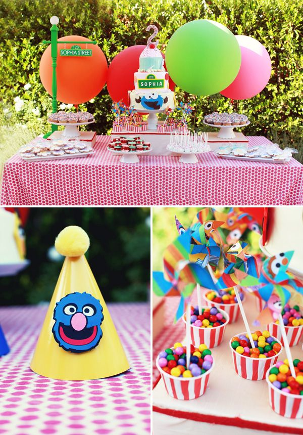 Playful Girly Sesame Street Themed Birthday Party