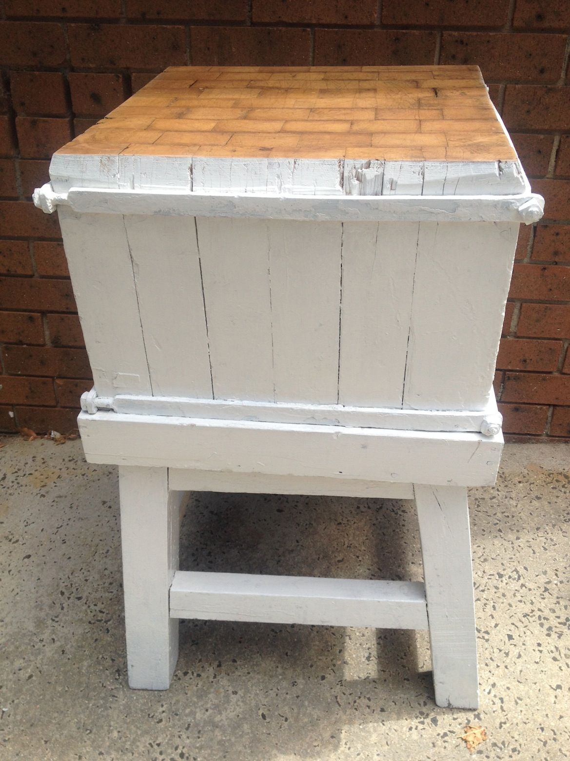 Industrial French butchers block #641