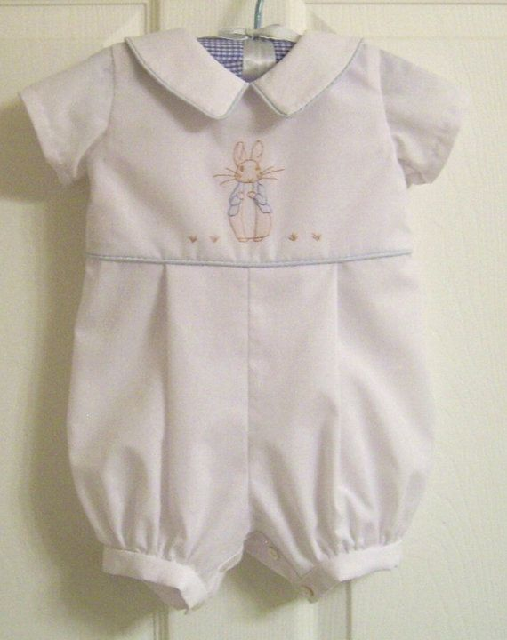 Peter Rabbit Baby Romper size 6 to 12 mo. by ClassicBabyWhites  7c84a999cced