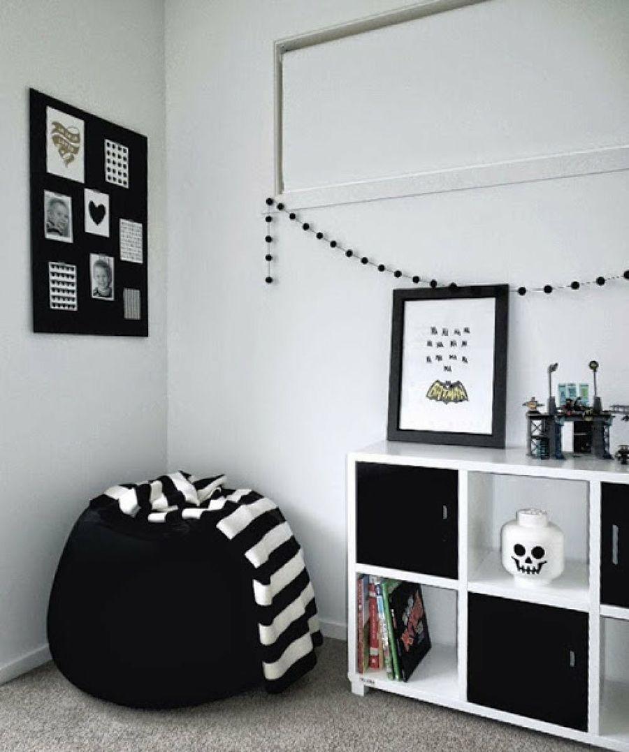 Ideas para decorar una habitaci n infantil en blanco y for Corredor deco blanco y negro