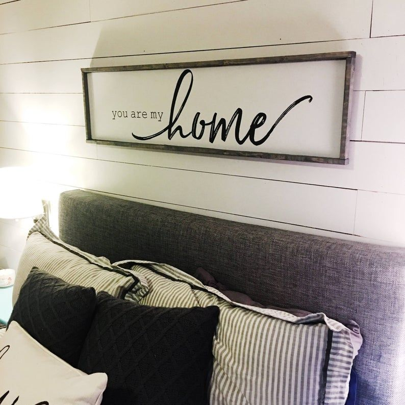 You are my home. above the bed sign FREE SHIPPING | Etsy ...