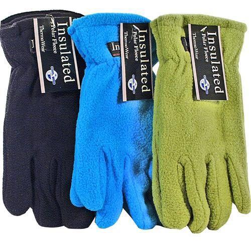 Ladies Polar Fleece Gloves Asst Colors Case Pack
