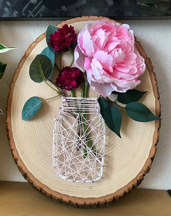 10 Beautiful Mason Jar String Art Ideas To Spark Your Creativity #stringart