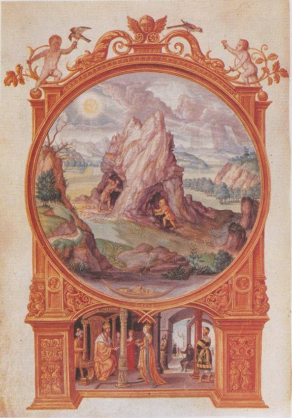 """S. Trismosin, Splendor solis, London, 16th century - """"And this prima Materia is found in a mountain which contains a huge number of created things. Within this mount all kinds of knowledge can be found which exist in the world. There is no science or knowledge, no dream or thought (…) that is not contained therein."""" (Abu'l-Qasim, Kitab al- 'ilm, Ed Holmyard, Paris, 1923) www.ritmanlibrary.com"""