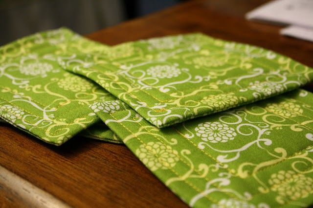 DIY fabric coasters made from fat quarters or scrap fabric