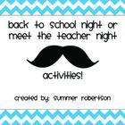Back to School Night or Meet the Teacher Night Mustache Themed Scavenger Hunt #meettheteachernight