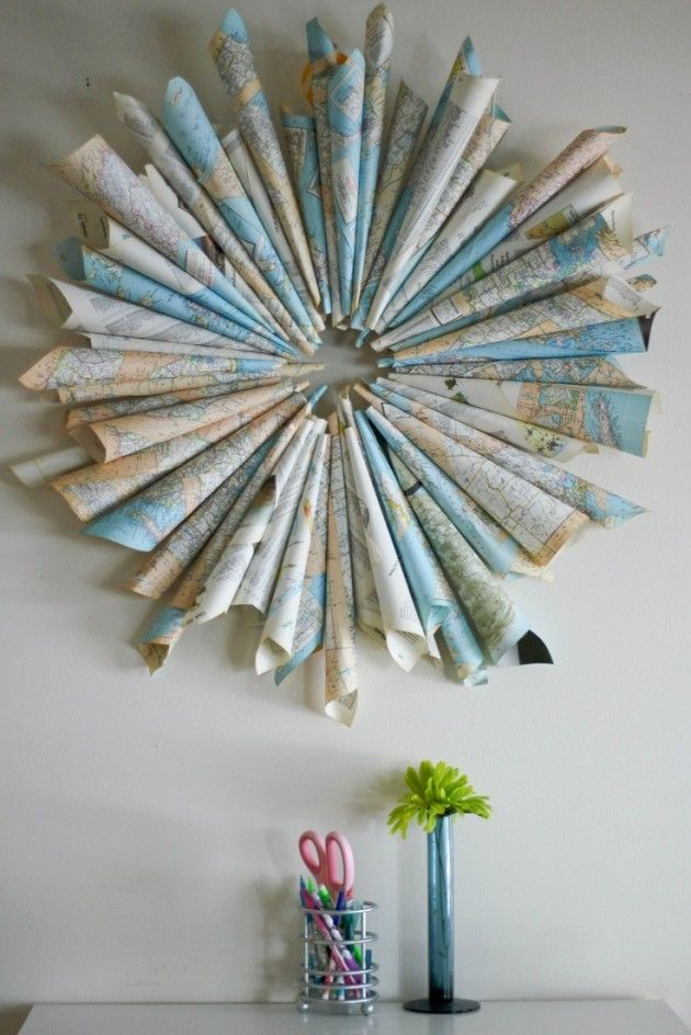 30 Creative Diy Maps Decorations | Diy wall art, Map crafts ...