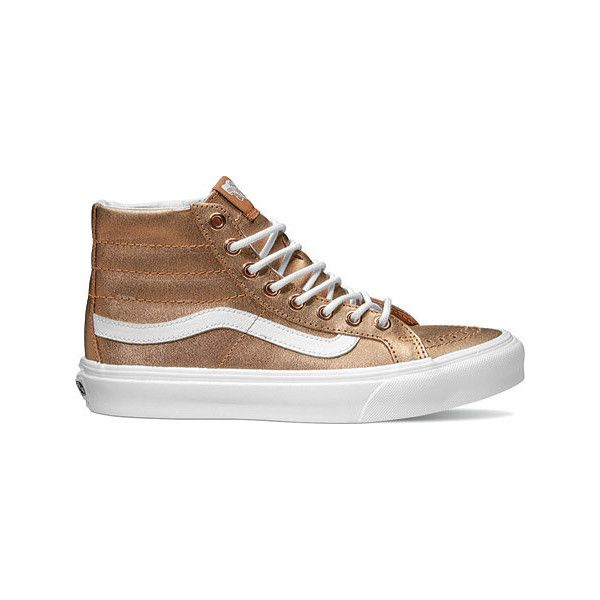 a40b7c9d Vans Sk8-Hi Slim High Top - Metallic Rose Gold/True White Casual ...