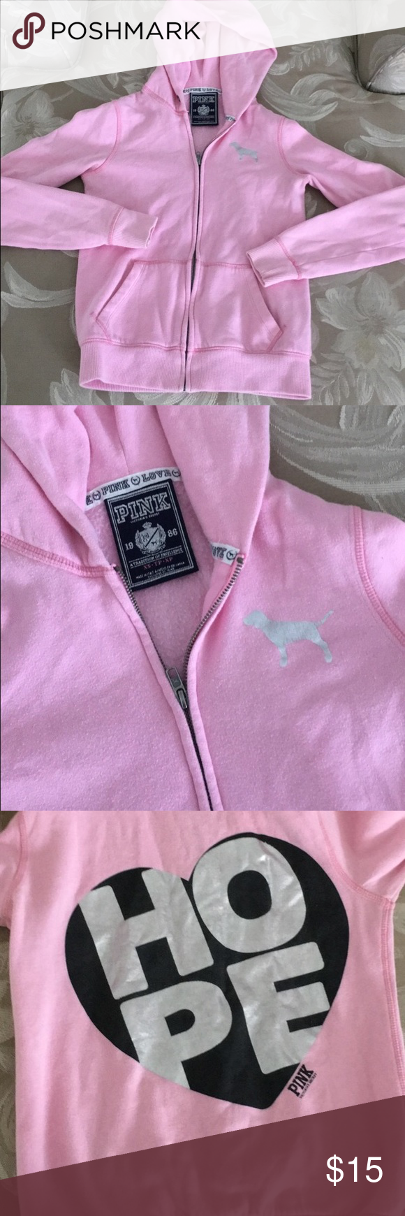 PINK Victoria's Secret sweatshirt PINK Victoria's Secret sweatshirt. Size XS PINK Victoria's Secret Sweaters