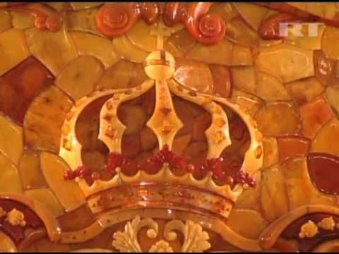 Images of the Amber Room in Catherine Palace, one of the treasures ...