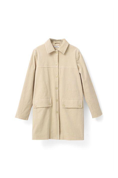 Ganni New Arrivals   Belmont Corduroy Coat, Biscotti