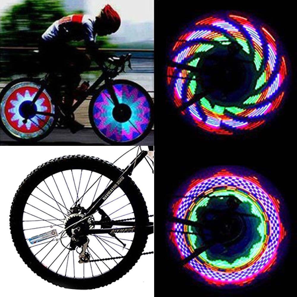 21 Patterns 32 LED Motorcycle Car Bicycle Bike Wheel Tire Spoke Flash Light Lamp