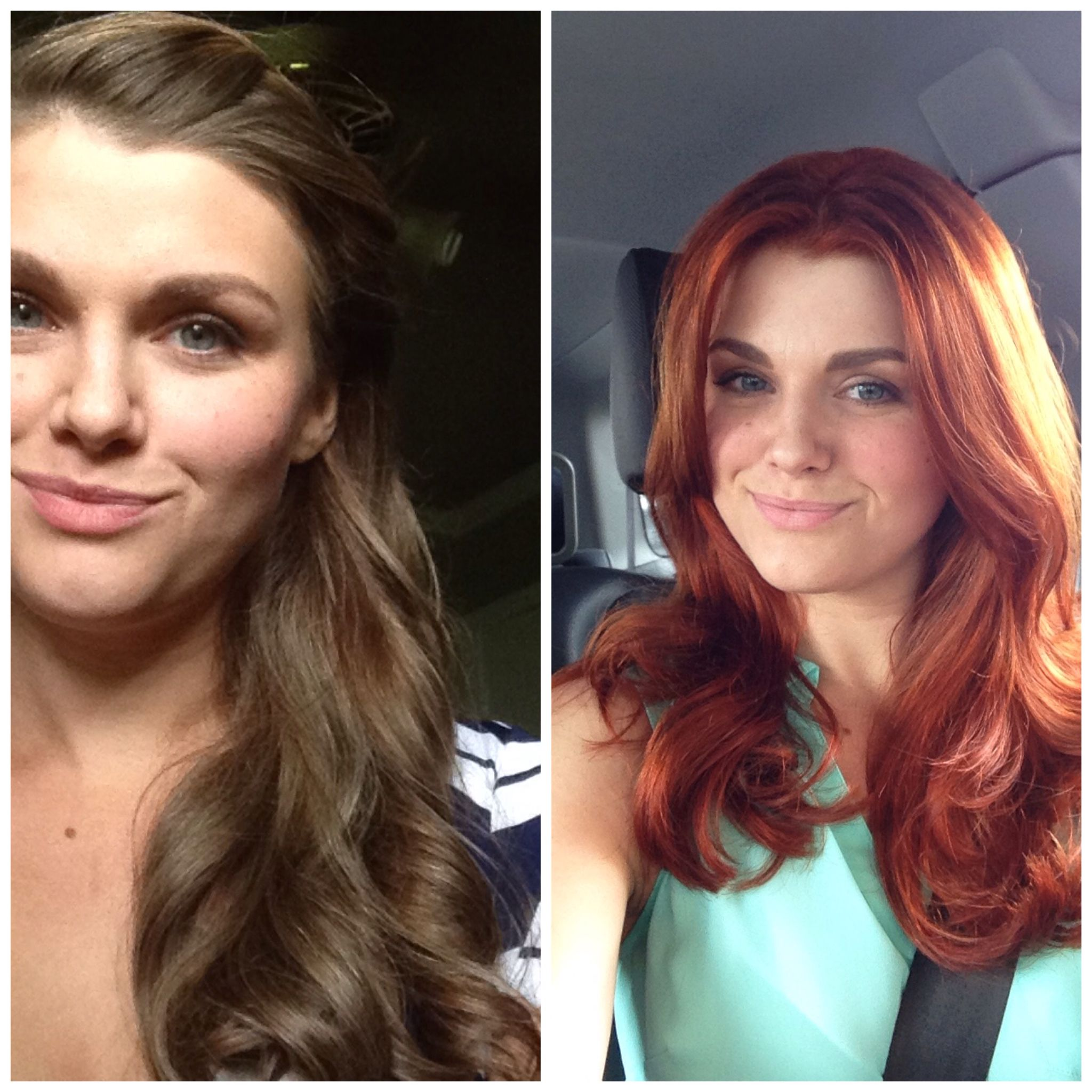 From Golden Brown To Vivacious Red Redken Chromatics 7cc With 20