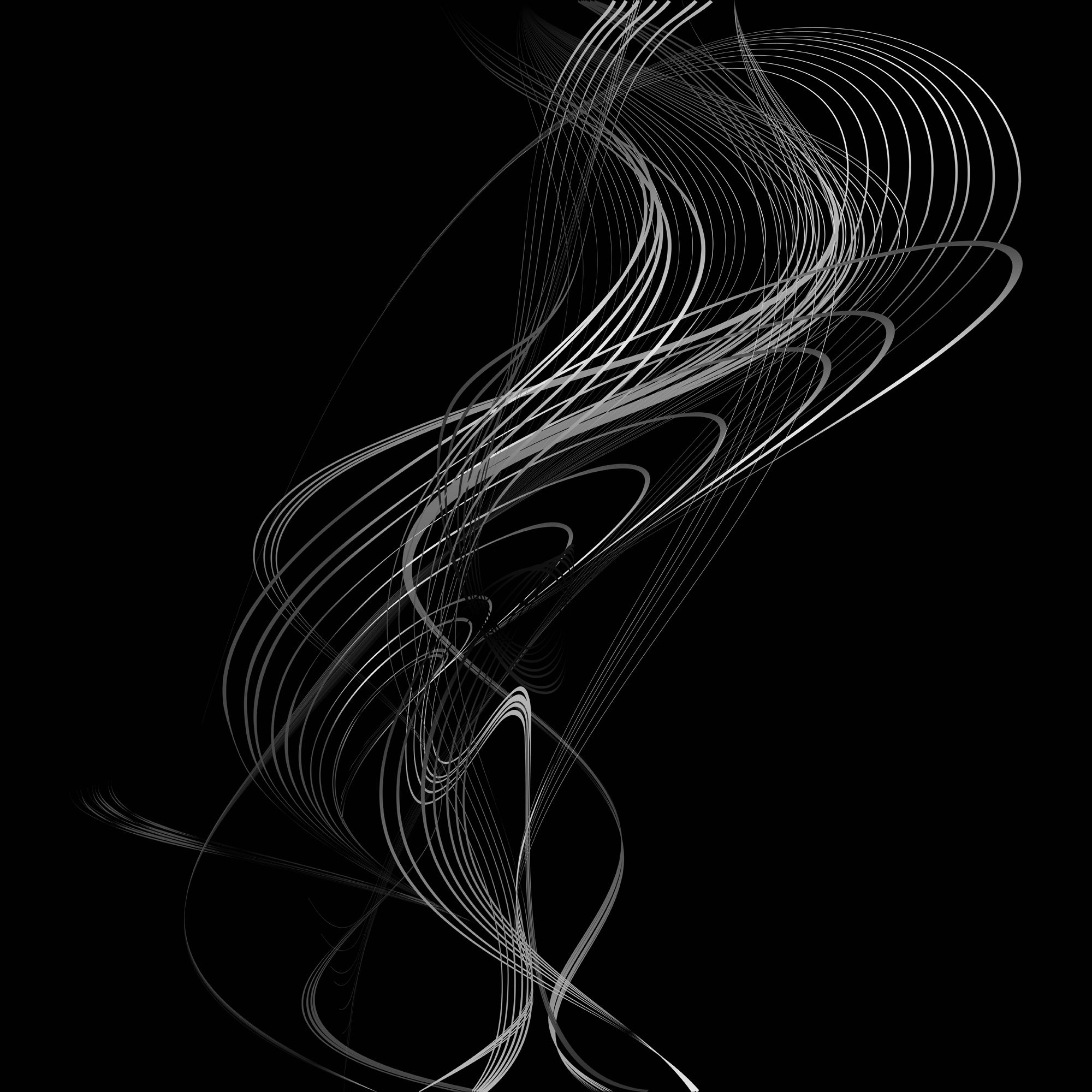 Abstract Structural Curved Background Grey Lines And White Waves