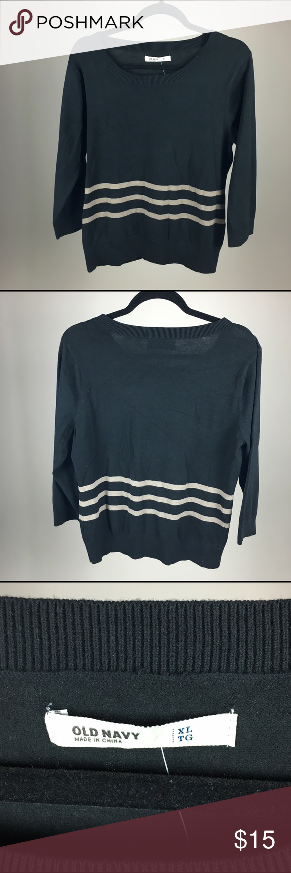 Old Navy Black Striped Sweater NWT | Navy sweaters, Navy and ...