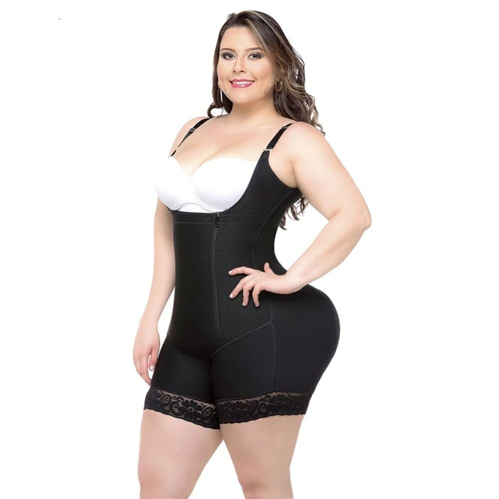 Body Shaper Bodysuit Women Waist Tainer Slimming Underwear Butt Lifter Shapewear Latex Modeling Strap