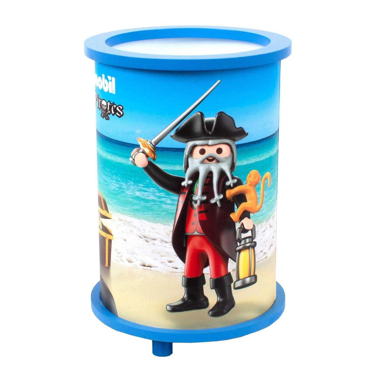 Nachttischleuchte Playmobil Pirates Von Elobra Blau Tischleuchte