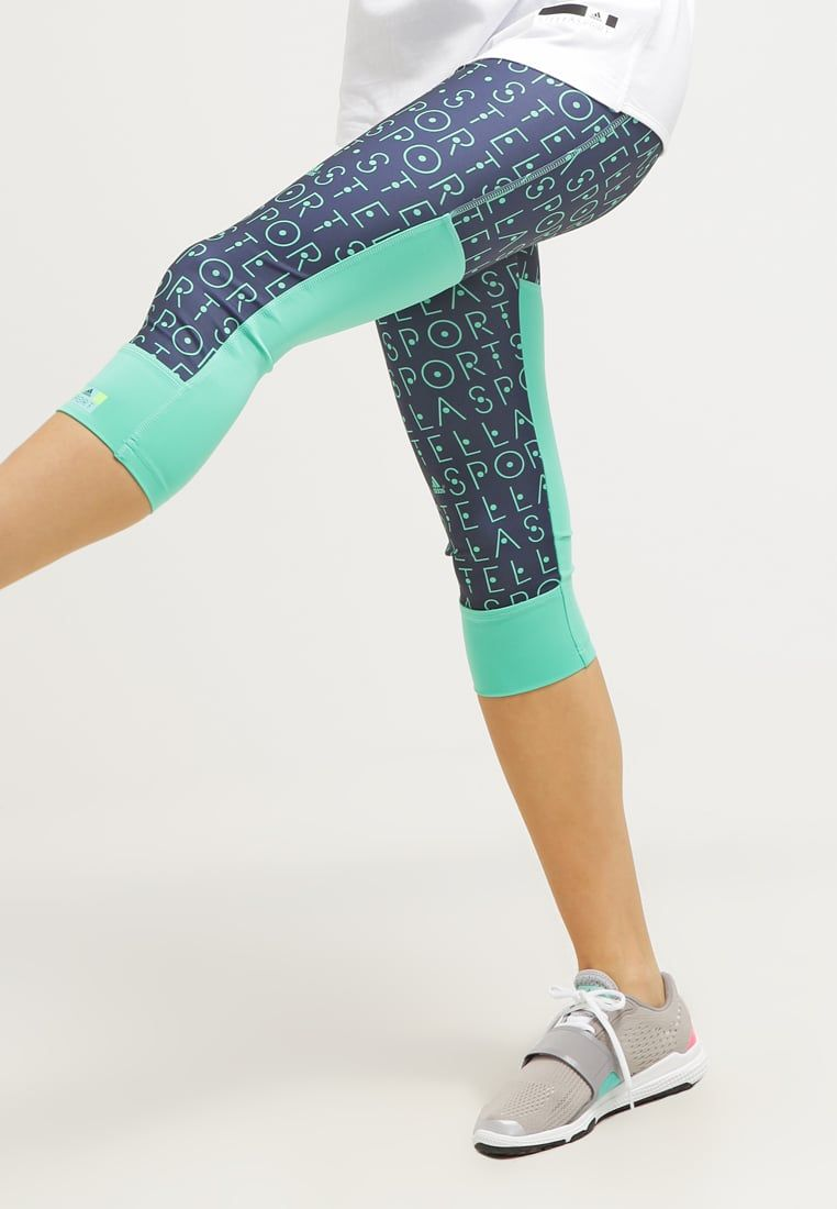 adidas Performance STELLA SPORT - Tights - midnight grey/bright green for  with free delivery at Zalando