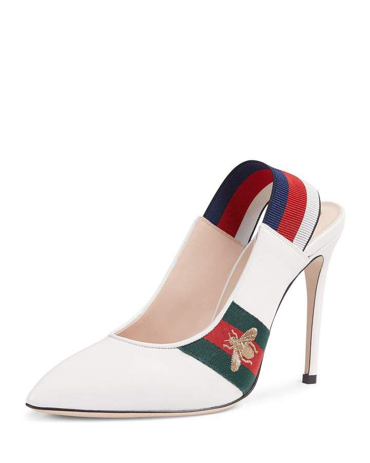 f87a27a91a0e Gucci Sylvie Leather Slingback Pump  ad