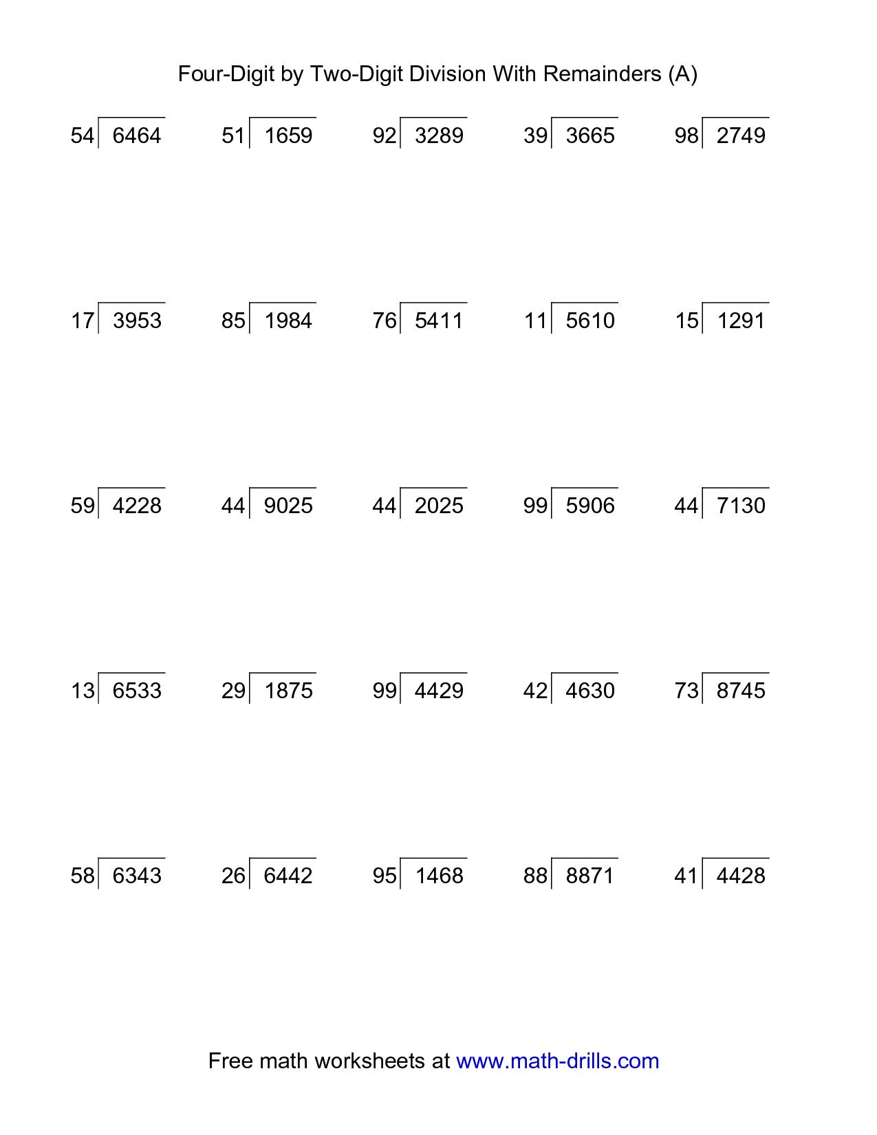 long division worksheet year 6 Google Search – Division Worksheets Year 6