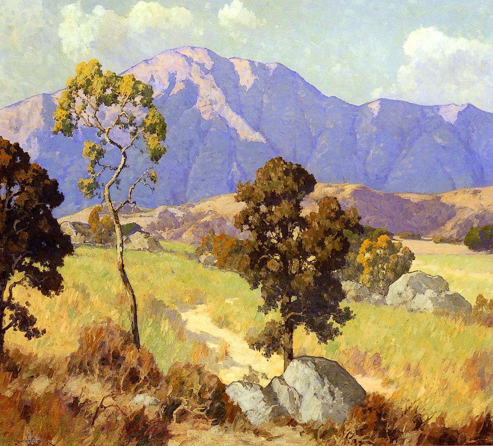 Mountain Shadows By Maurice Braun Oil On Canvas Landscape Paintings Fine Art Landscape Landscape Artist