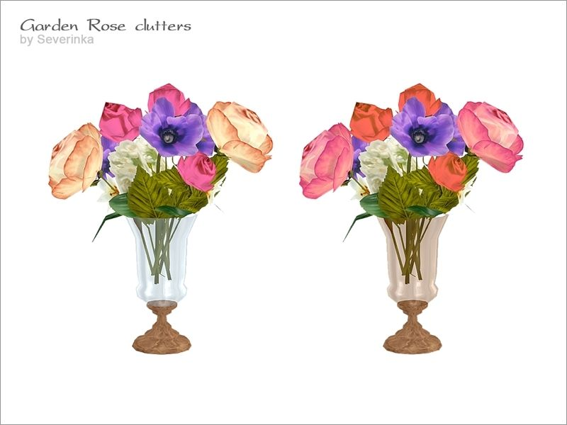 Bouquet of flowers in glass vase found in tsr category