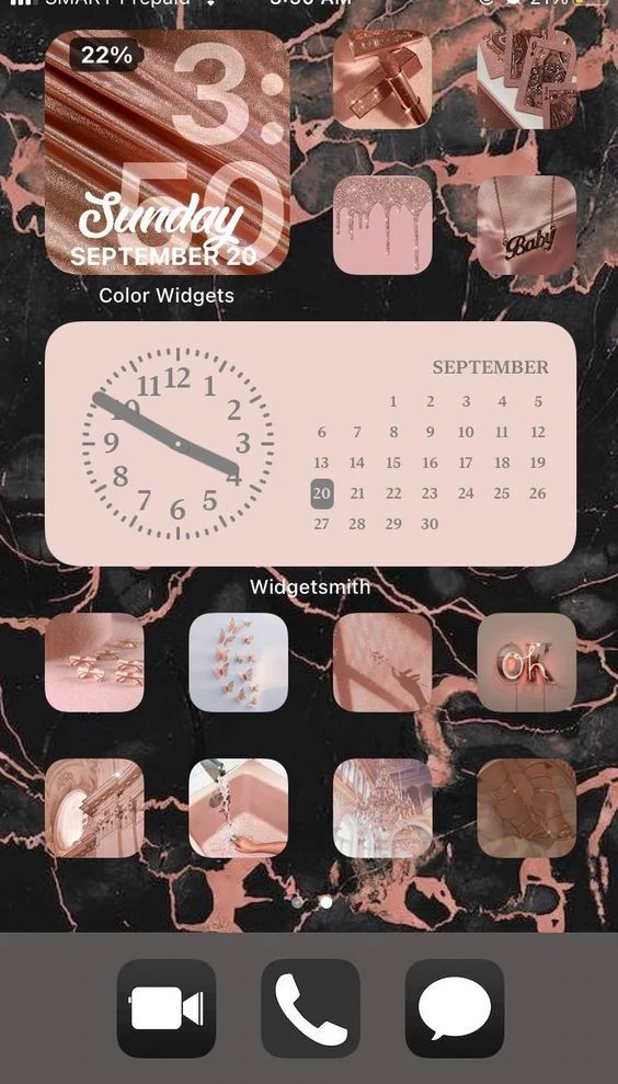 15 Pink Themed Home Screen Ideas