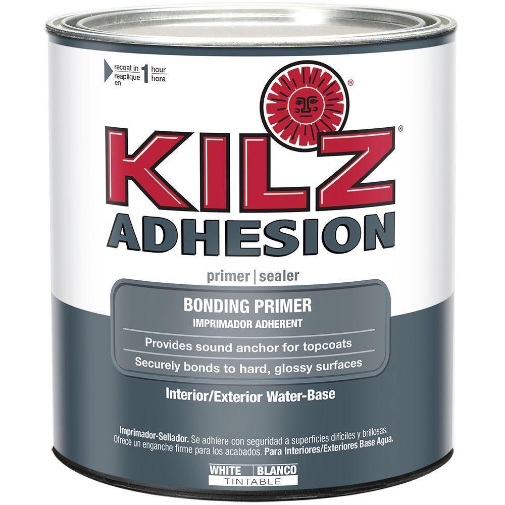 Kilz 1 Qt Adhesion Bonding Primer White With Images Laminate Furniture Painting Laminate Furniture Painting Laminate