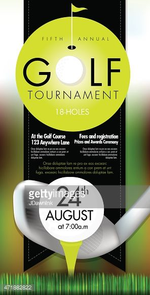 golf tournament budget template - vector illustration of golf tournament invitation layout