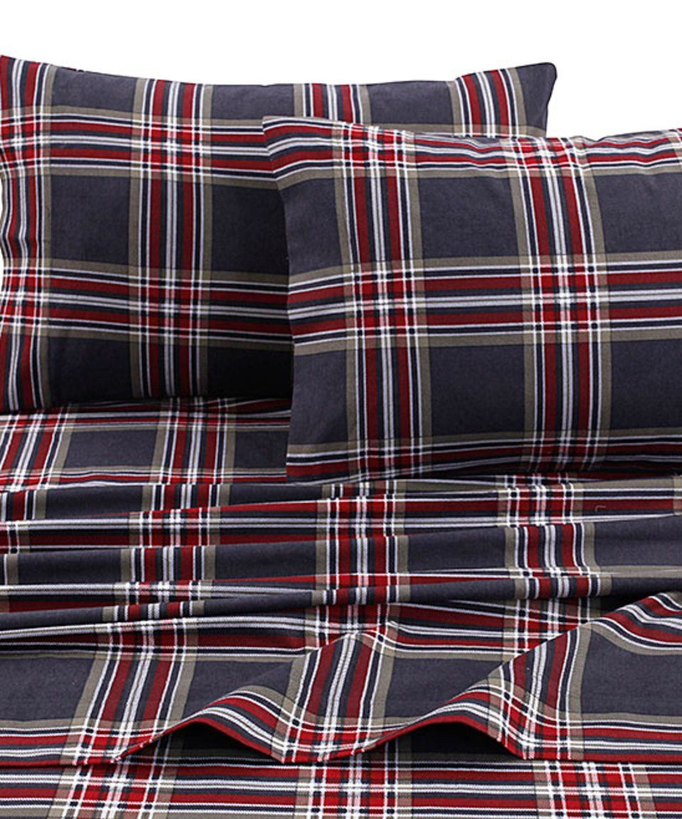 Take A Look At This Heritage Plaid Deep Pocket Flannel Sheet Set Today Tribeca Living Cotton Sheet Sets Plaid Sheets
