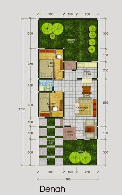 Denah Rumah Minimalis Type 60 Design Di 2019 Denah