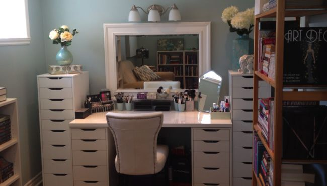 Makeup Vanity 2 Ikea Alex Units Helmers